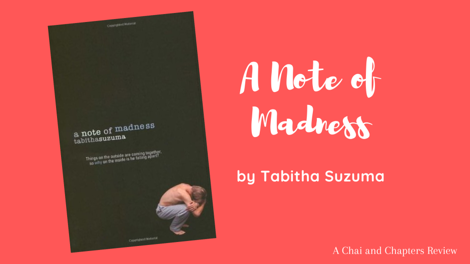blog banner depicting book cover and title of A Note of Madness by Tabitha Suzuma