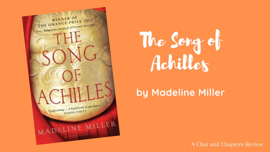 Blog banner depicting books cover of The Song of Achilles with title and author name
